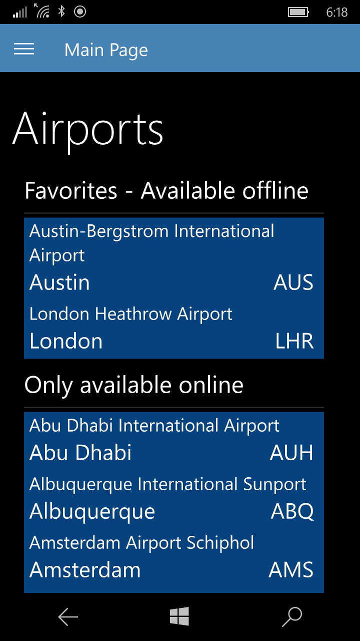 The app has information about more than 90 airports around the world!