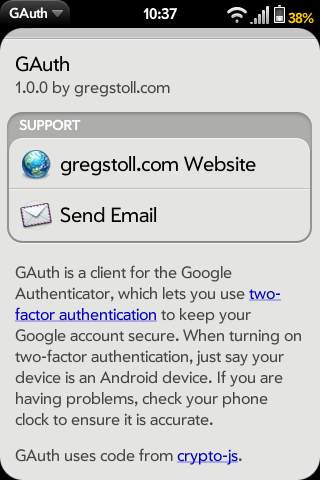 GAuth Screenshot 2